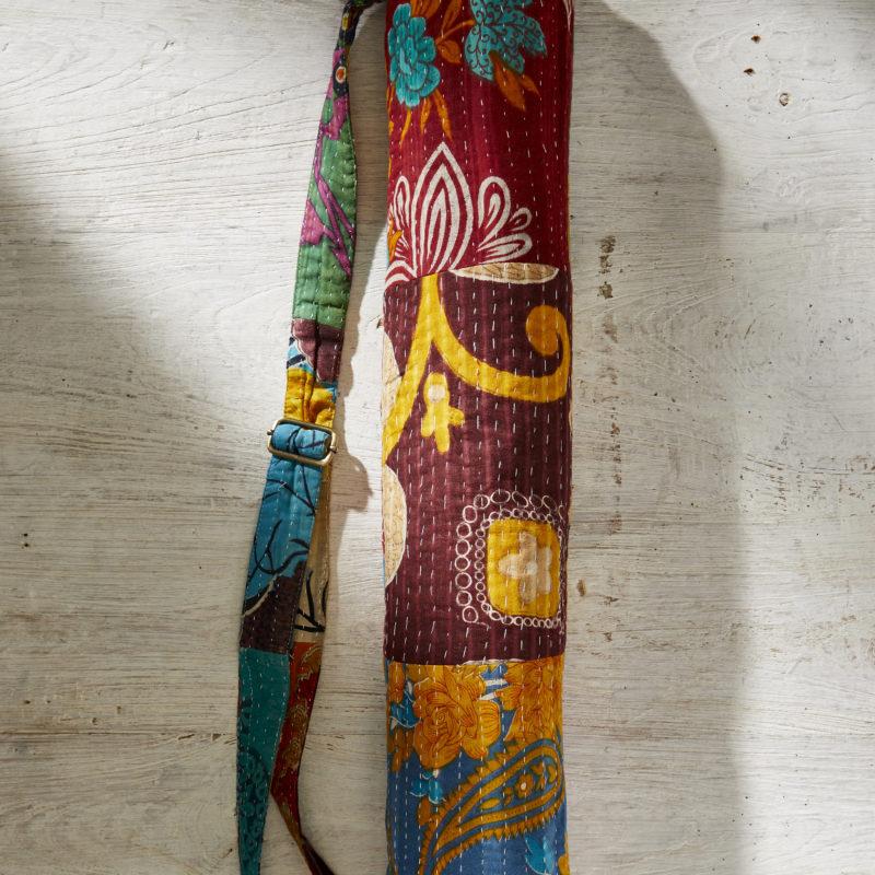 sustainable yoga mat bag boho