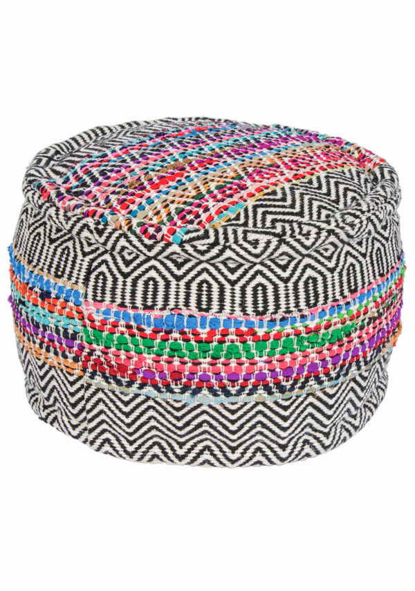 Recycled plastic bottle pouffe, fair trade Wildwood Cornwall, Bude