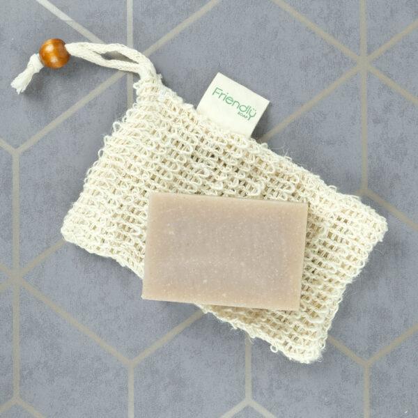 Organic hemp soap saver pouch