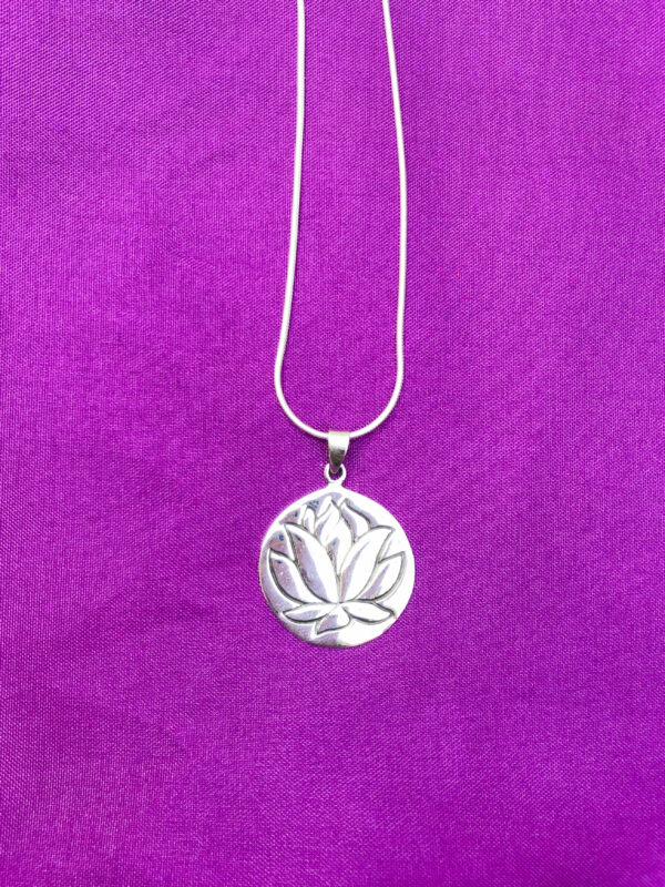 Lotus flower pendant Wildwood Cornwall