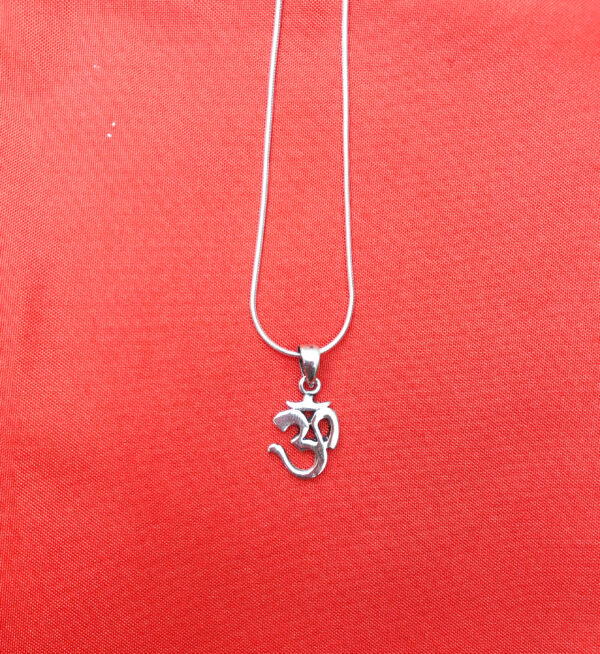 Silver om necklace Wildwood Cornwall Bude