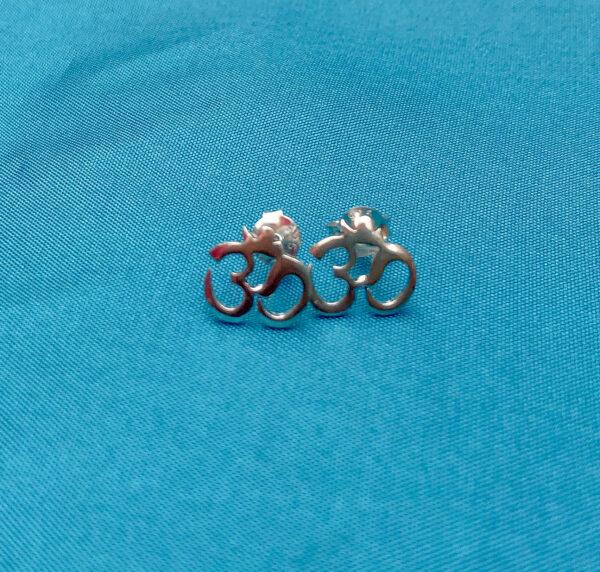 Sterling silver om earrings