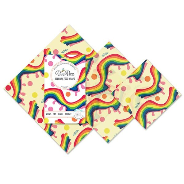Rainbow eco-friendly christmas gifts beeswax wraps Wildwood COrnwall